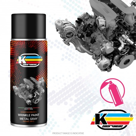 Wrinkle Paint Ferrari Metal Gray Hi Heat Spray - 400ml