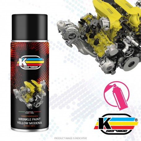 Wrinkle Paint Hi Heat Spray Yellow Modena - 400ml