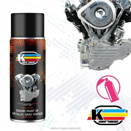 Hi Heat Engine Spray Paint 2k Metallic Gray Silver - 400ml
