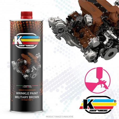Wrinkle Paint Nato Brown Hi Heat - 250gr