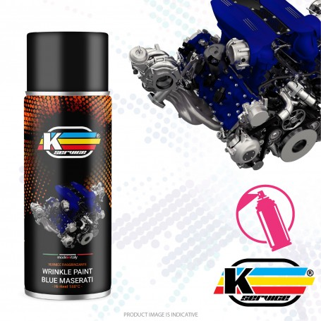 Wrinkle Paint Spray Blue Maserati - 400ml