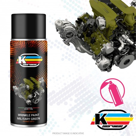 Wrinkle Paint Spray Military Nato Green - 400ml