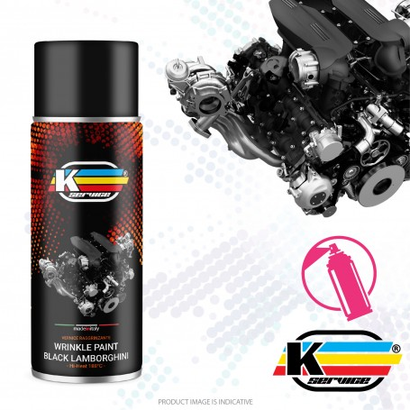Wrinkle Paint Black Lamborghini Hi Heat Spray - 400ml