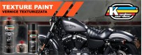 High Heat engine texture paint deep black matt for Harley Davidson